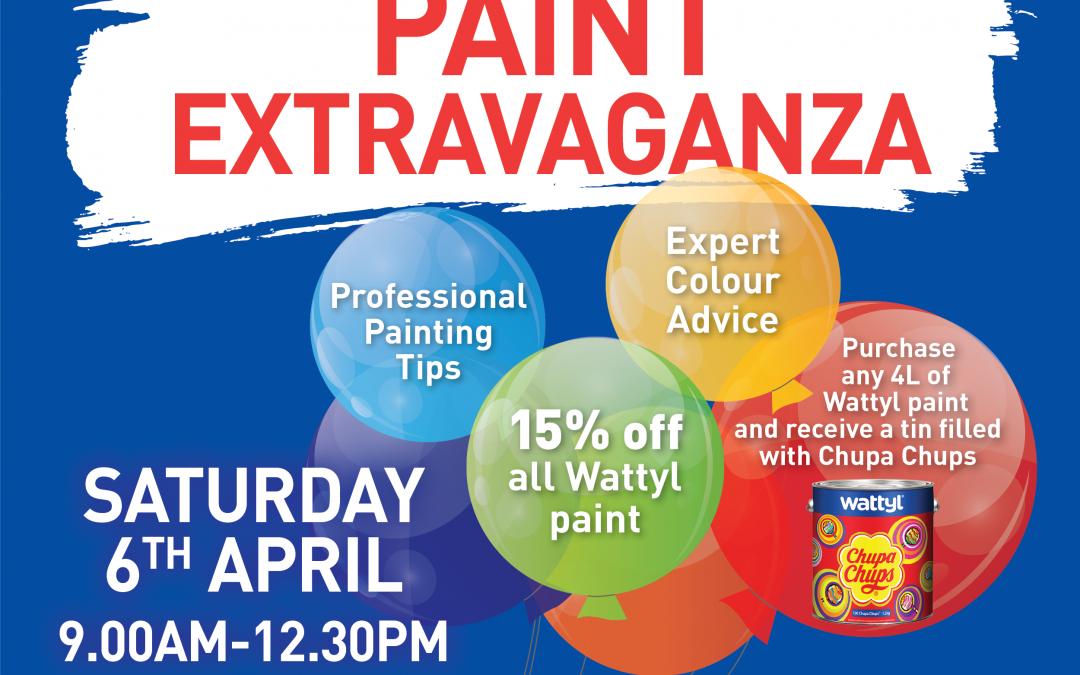 Wattyl Paint 15% off Sale – Saturday 6 April 2019 at Ison and Co South Nowra